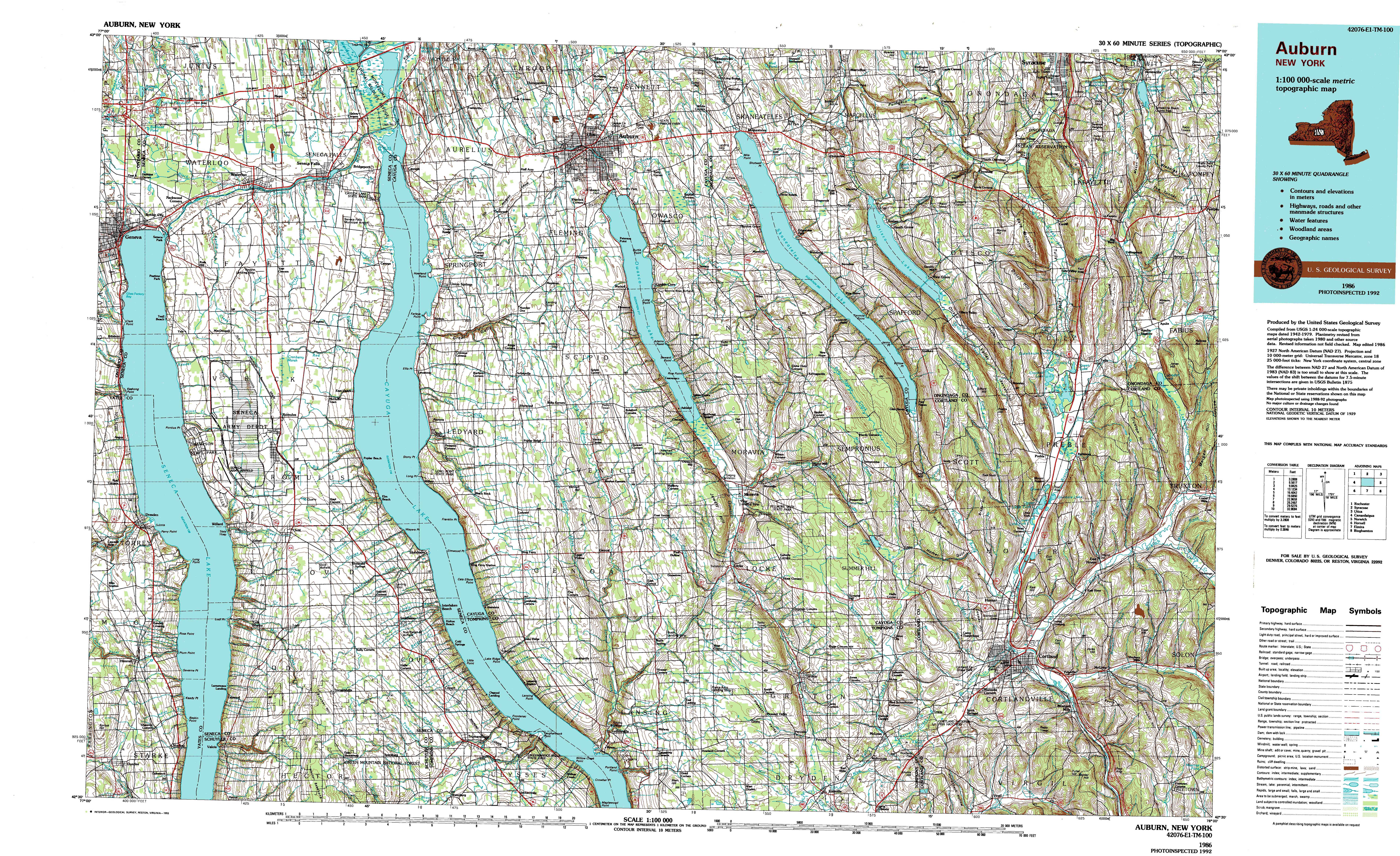 New York Topo Maps Topographic Maps 1100000